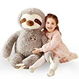 IKASA Large Sloth Stuffed Animal Plush Bradypode Toy for Children (Gray, 30 inches)