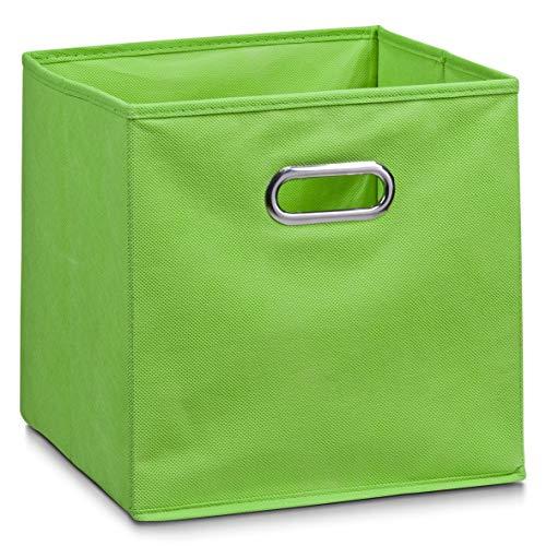 Zeller 14134 - Caja de almacenaje de tela, plegable, 28 x 28 x 28 cm, color verde
