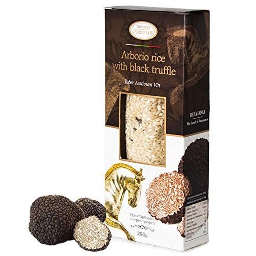 Arborio Risotto Black truffle Rice Gourmet Arborio rijst met zwarte truffel Tuber Aestivum Rijk aan antioxidanten, vezels, 250 g