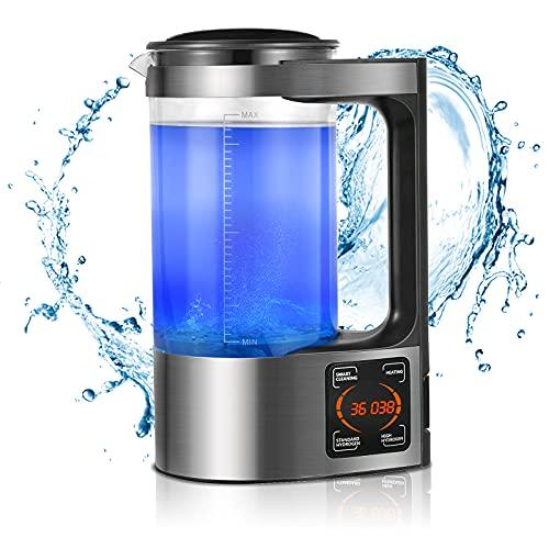 4YANG 2L Máquina de Agua Rica en hidrógeno microelectrólisis, máquina ionizadora de Agua alcalina, Pantalla LED y función táctil Inteligente, para el hogar