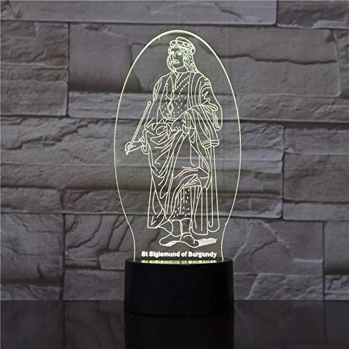 Shepherd USB3D lámpara de mesa acrílico LED multicolor luz nocturna regalo con crucifijo lámpara de mesa dormitorio