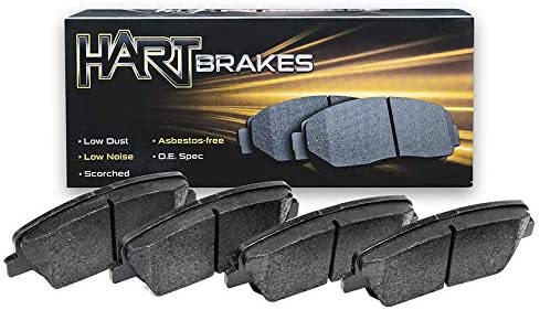 Front Hart Brakes security Indefinitely Ceramic Series Brake Pad With Rub Steel Rubber