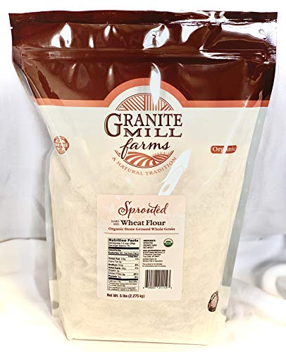 Stone Ground Sprouted Organic Hard Red Wheat Flour-5 lbs