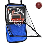 Liberry Basketball Hoop with 2 Small Basketballs, Backboard, Rim, Net, Basketball Shooting Arcade Game, Portable Indoor Outdoor Wall Mounted Basketball Hoop for Adults