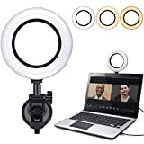 Hagibis Video Conference Lighting Kit,Computer/Laptop Moniter LED Video Light Dimmable 6500K Ring Light for Remote Working,Zoom Call,Self Broadcasting,Live Streaming (Black)