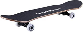 RockBirds Skateboards, 31'' Pro Complete Skateboard, 7 Layer Canadian Maple Skateboard Deck for Extreme Sports and Outdoors
