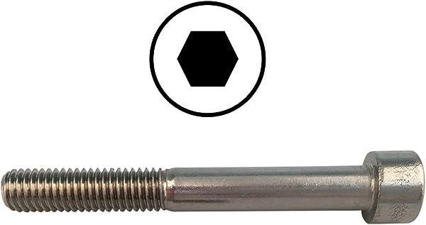 Edelstahl A2 - Zylinderkopfschrauben D/´s Items/® DIN 912 Zylinderschrauben mit Innensechskant-Antrieb M8x60 Innensechskantschrauben V2A 10 St/ück -