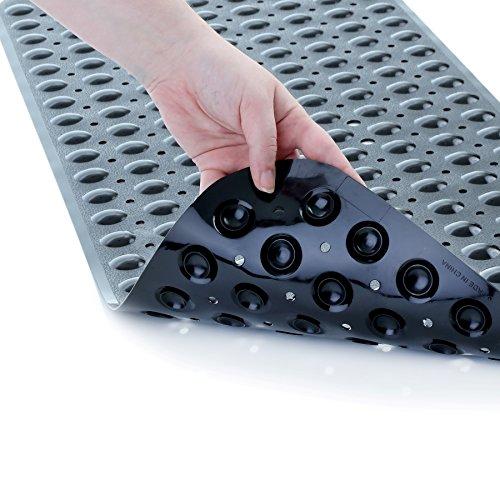 SlipX Solutions Extra Long Tapis de Bain ajoute de la Traction antidérapantes pour baignoires et douches - 30% Plus Longtemps Que Standard Tapis. (200 ventouses, 99 cm de Long - Noir)