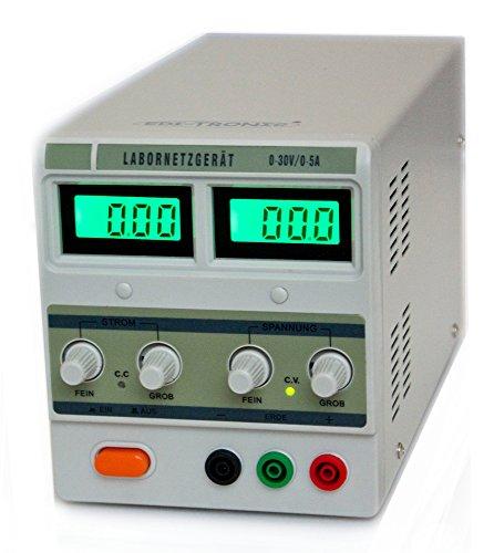 Regelbares Labornetzgerät Labornetzteil 0-30 V 0-5A Netzgerät regelbar beleuchtet