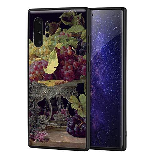 Berkin Arts Ferdinand Georg Waldmuller für Samsung Galaxy Note 10 Pro Hülle/Kunst Handyhülle/Giclée UV Druck auf der Telefonabdeckung(Rote und weiße Trauben und Silbergeschirr)