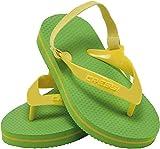 Cressi Baby Beach Flip Flops with Strap Ciabatte Infradito Bambini per Spiaggia e Piscina, Unisex, Verde, 21/22