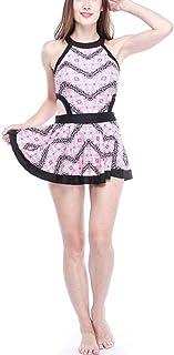 WX xin 水泳?スイミング 水着 婦人向け セクシーギャザリング ワンピース水着 ピンク かわいいスカート ファッション水着 レディースファッション水着 (色 : ピンク, サイズ さいず : M)