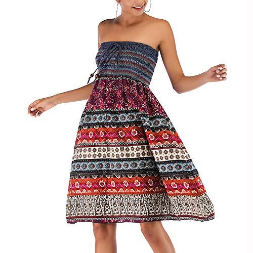 QPXZ Letnia długa spódnica sukienka damska letnia sukienka Vestido Mujer Vestidos De Noche Ropa Mujer szlafrok damski duży rozmiar Elbise codzienny nadruk Z4 (3)