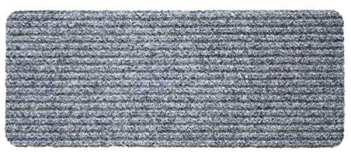 FUSSMATTE 25X60CM RIBLINE GRAU