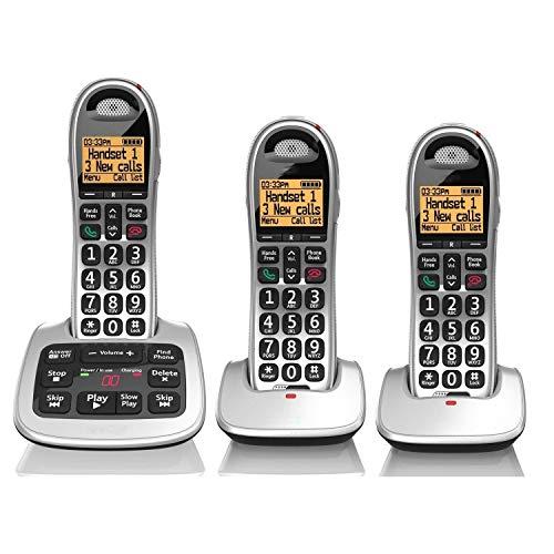 Big Button Telefono di Casa, Volume Regolabile Handset Confezione Singola, con Tasto di Selezione Telefono, Call Blocker Segreteria Telefonica Digitale, di personalità Orna La Decorazione (Size : C)