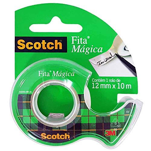 Fita Mágica Scotch com Suporte - 12 mm x 10 m