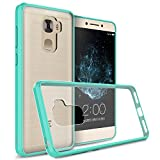 LeEco Le Pro 3 Clear Case, CoverON ClearGuard Series Hard Slim Fit Phone Cover with Clear Back and Flexible TPU Bumpers for LeEco Le Pro 3 - Teal/Clear
