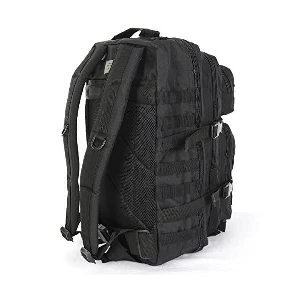 51xZm4an34L. SS600  - Mil-Tec Military Army Patrol Molle Assault Pack Tactical Combat Rucksack Backpack Bag 36L Black