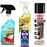 KIT PULIZIA AUTO MA-FRA detergente elimina resina insetti pulisci carrozzeria vetri auto PROFUMATORE IN REGALO