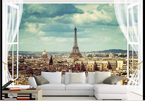 Fototapete Eiffelturm 150x105 cm Vlies Premium Kunstdruck Fleece Wandbild Dekoration Poster Bild Design Moderne Naturlandschaft