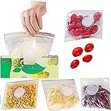 30PCS Bolsa de comida reutilizable, Bolsa de congelador reutilizable,bolsas de aperitivos almuerzo auto-sellado, los viajes y la cocina bolsas de alimentos.