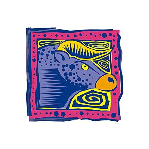 LZHLMCL Parche De Hierro En Aplique Parche De Transferencia De Calor De Doce Constelaciones Pegatina Térmica Para Ropa Pintura Artística Parches Para Planchar Pegatina Para Ropa Tauro