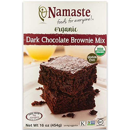 Namaste Foods Gluten Free Organic Dark Chocolate Brownie Mix, 16 oz