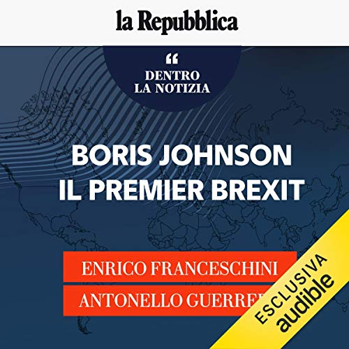 Couverture de Boris Johnson, il premier Brexit