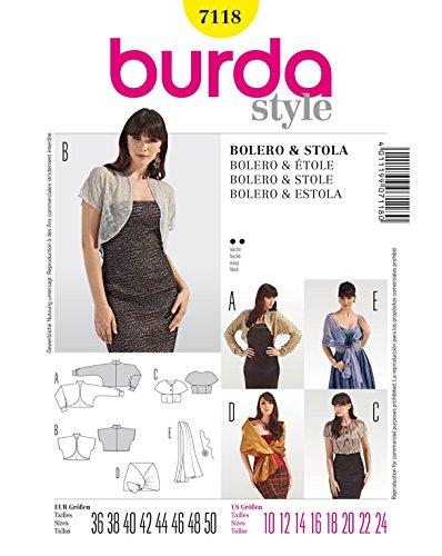 Burda Schnittmuster Bolero, Stola und Schal