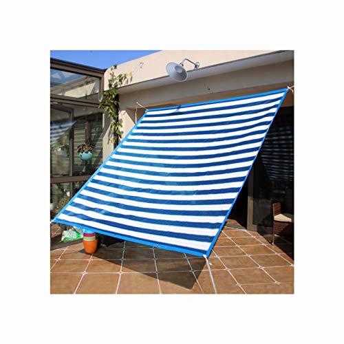 Haofy Toldo para Parasol Rectangular con toldo, Protector Solar Permeable al Aire Libre, Cubierta de Tela para Patio, Patio, jardín, césped, Azul y Blanco(2 * 2m)