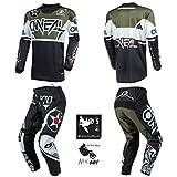 O'Neal Element Warhawk Black/Green Men Motocross MX Off-Road Dirt Bike...