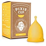 Pixie Menstrual Cup - Ranked 1 for Most Comfortable Reusable Period Cup and Best Removal Stem - Tampon and Pad Alternative - Every Cup Purchased One is Given to a Woman in Need! (Small)