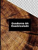 Cuaderno A4 Cuadriculado: Tamaño grande hoja A4 8x11 diseño edad del árbol (Colección cuadernos papel cuadriculados textura del bosque tamaño A4 10 diseños exclusivos.)