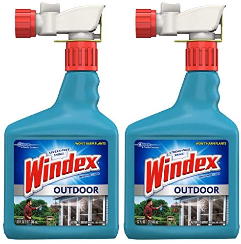 Windex hfv Outdoor Glass & Patio Cleaner, 4 Pack of 32 oz