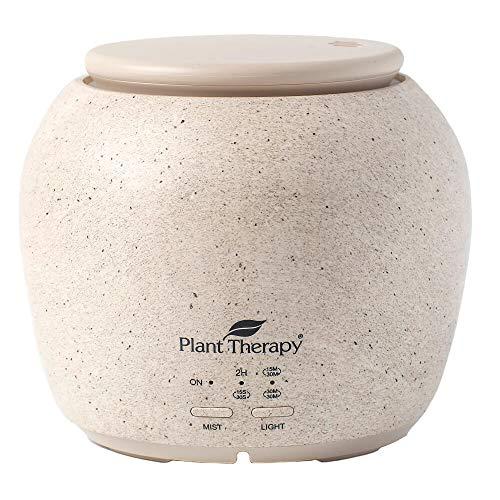 Plant Therapy TerraFuse Deluxe Essential Oil Diffuser - Cream, Five Settings, Modern, Stylish, Powerful, Auto Shut Off
