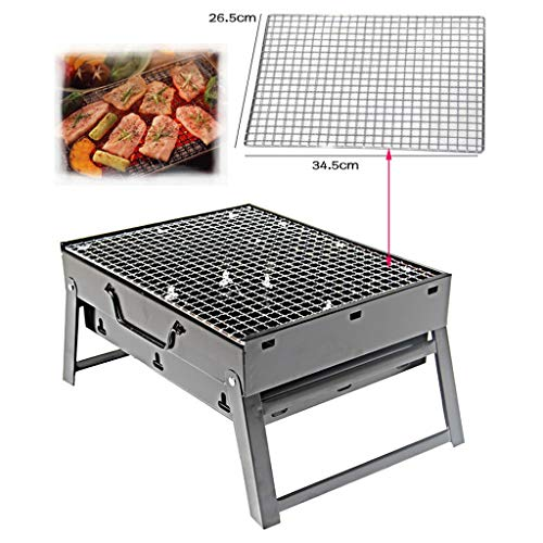 51xZqB1iyyL. SL500  - Grills Kochplatten Holzkohlegrill im Freien beweglichen Faltbarer Barbecue Gratis Maschendraht Grillzubehör (Size : M)