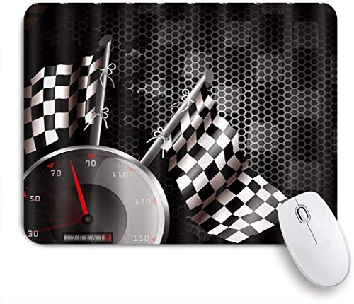 Benutzerdefiniertes Büro Mauspad,F1 Car Racing Weiß Schwarz,Anti-slip Rubber Base Gaming Mouse Pad Mat