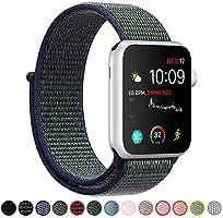 COVERY コンパチブル Apple Watch バンド ナイロン コンパチブル アップルウォッチ バンド 軽量通気性 スポーツループバンド コンパチブル Apple Watch SE/6/5/4/3に対応 (42mm,44mm,...