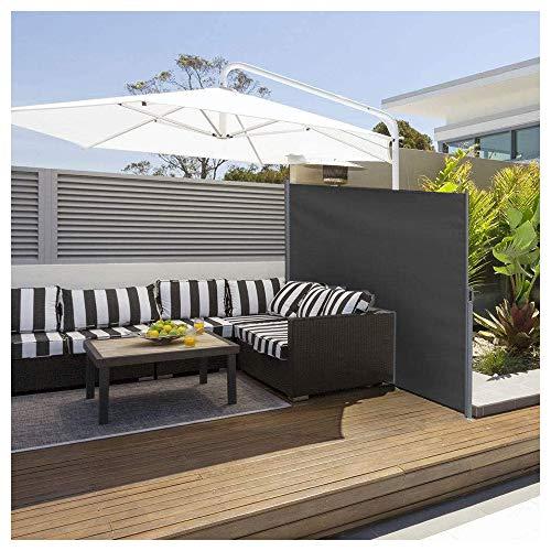 YOGANHJAT Toldo Lateral Retráctil para Balcón Terraza o Patio Protección Solar Intimidad Sombra Cuadro Cenador Carpa Pérgola para Balcón Jardín Terraza o Patio Negro 160x300cm