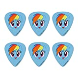 My Little Pony Rainbow Dash Face Novelty Guitar Picks Medium Gauge - Set of 6