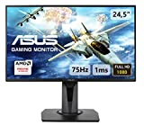 ASUS VG255H - Monitor de Gaming de 24.5' Full-HD (1920x1080, 75 Hz, 1 ms, DVI, HDMI x2 y Display port, FreeSync, GameFast Input, tecnología antiparpadeo) color Negro