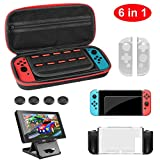 Molyhood 6 in 1 Accessories Kit for Nintendo Switch with
