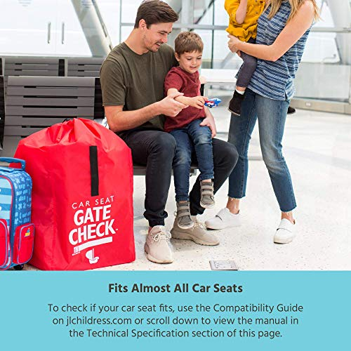 J.L. Childress Gate Check Bag for Car Seats - Air Travel Bag - Fits Convertible Car Seats, Infant carriers