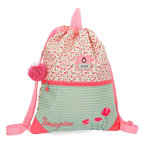 Mochila Saco Enso Imagine, 46 cm, Multicolor