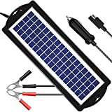 POWISER 3.5W Solar Battery Charger 12V Solar Powered Battery maintainer & Charger,Suitable for Automotive, Motorcycle, Boat, Marine, RV, Trailer, Powersports, Snowmobile, etc. (3.5W Poly)