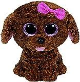 TY- Perro Peluche, juguete, Color marrón, 23 cm (United Labels Ibérica 37040TY) , color/modelo surtido