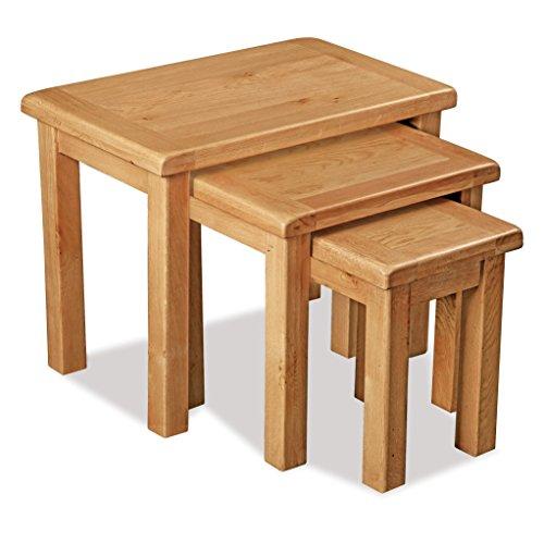 Roseland Furniture Ltd Sidmouth Oak Nest of Tables - Nesting Tables - Side Tables