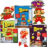 8-Bit Art Sticky Note Art Kit Nintendo Super Mario Bros. Small Mario Jumping, Standing & Fire Gift Set Bundle - 3 Pack