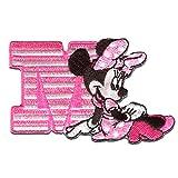 Disney © Minnie Mouse M - Aufnäher, Bügelbild, Aufbügler, Applikationen, Patches, Flicken, zum aufbügeln, Größe: 8 x 5 cm