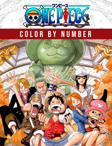 One Piece Color By Number: Favorite Anime Manga Character Color Number Book For Adults Creativity Gift